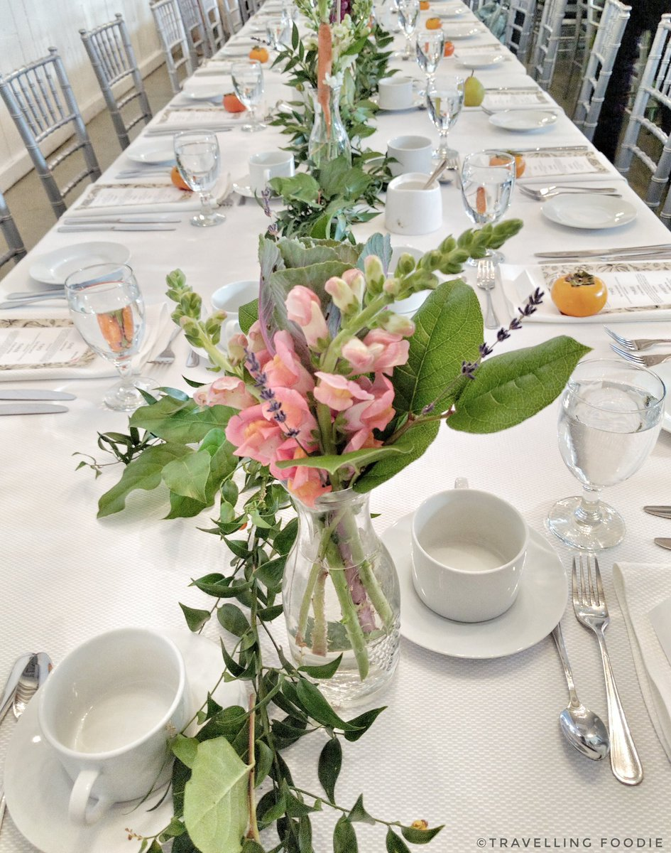 Table setting for Wold Vision Canada hungerfree event