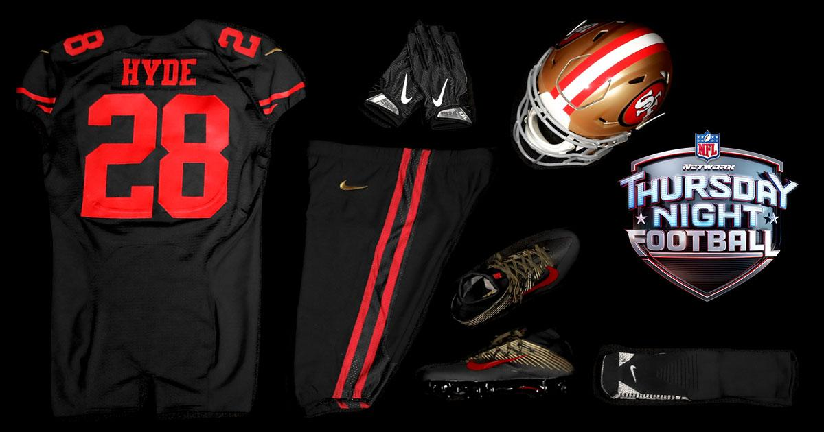 49ers jersey colors