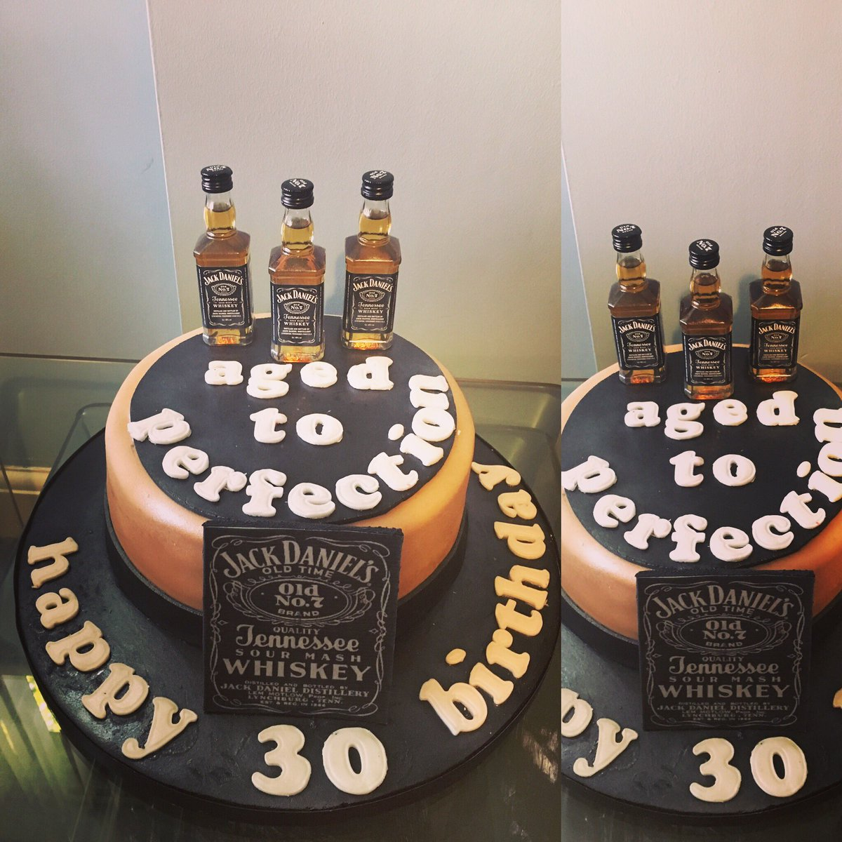 wirralcakeco on Twitter 30th Birthday Jack Daniels Themed Cake for