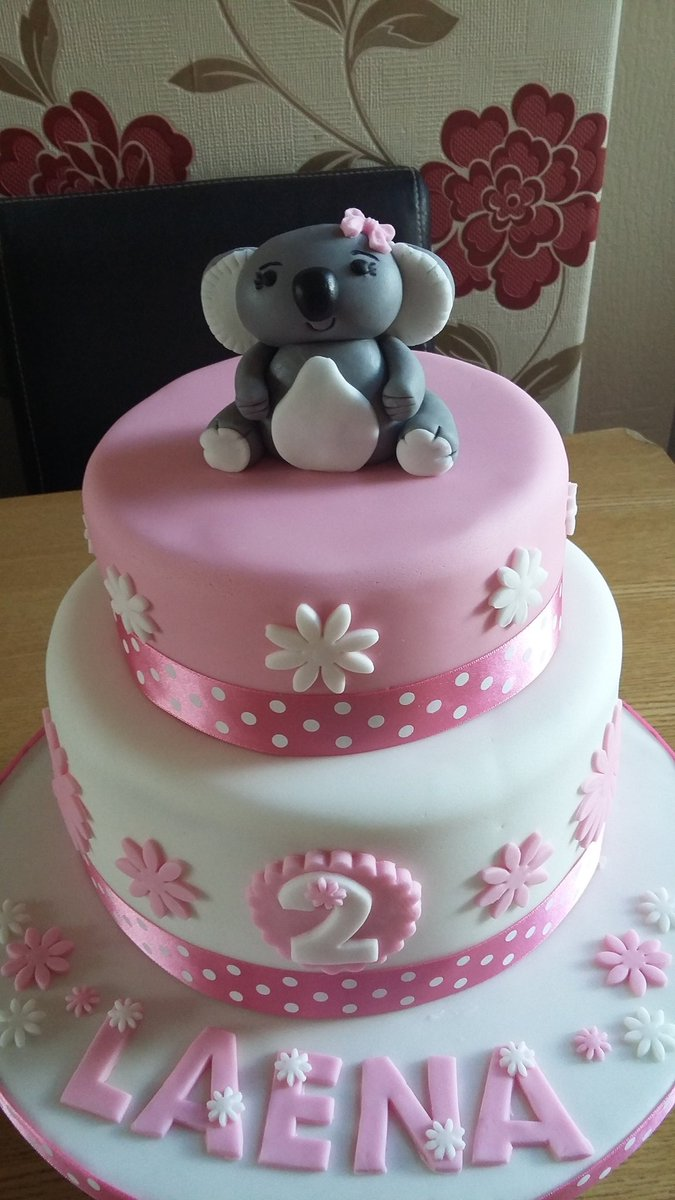 Swell Mrs Kays Cupcakes On Twitter A Pretty Girly Cake For A 2Nd Funny Birthday Cards Online Hetedamsfinfo