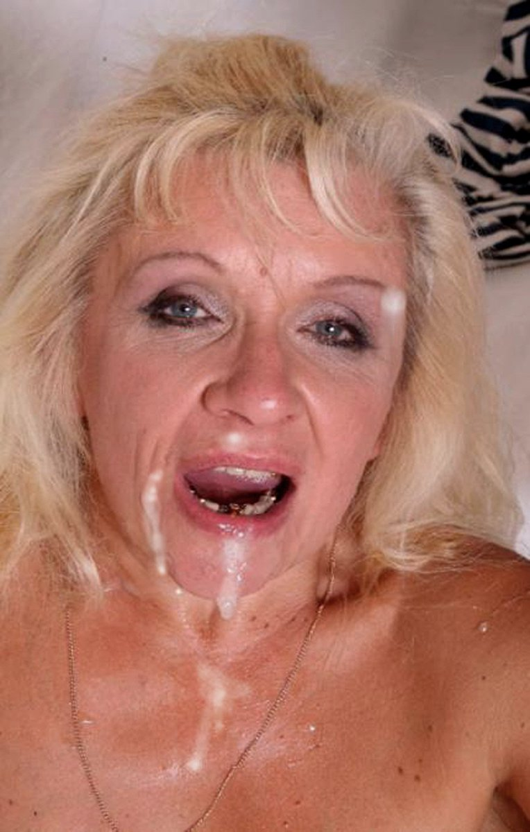 Granny facial shots, daughter gives daddy handjob