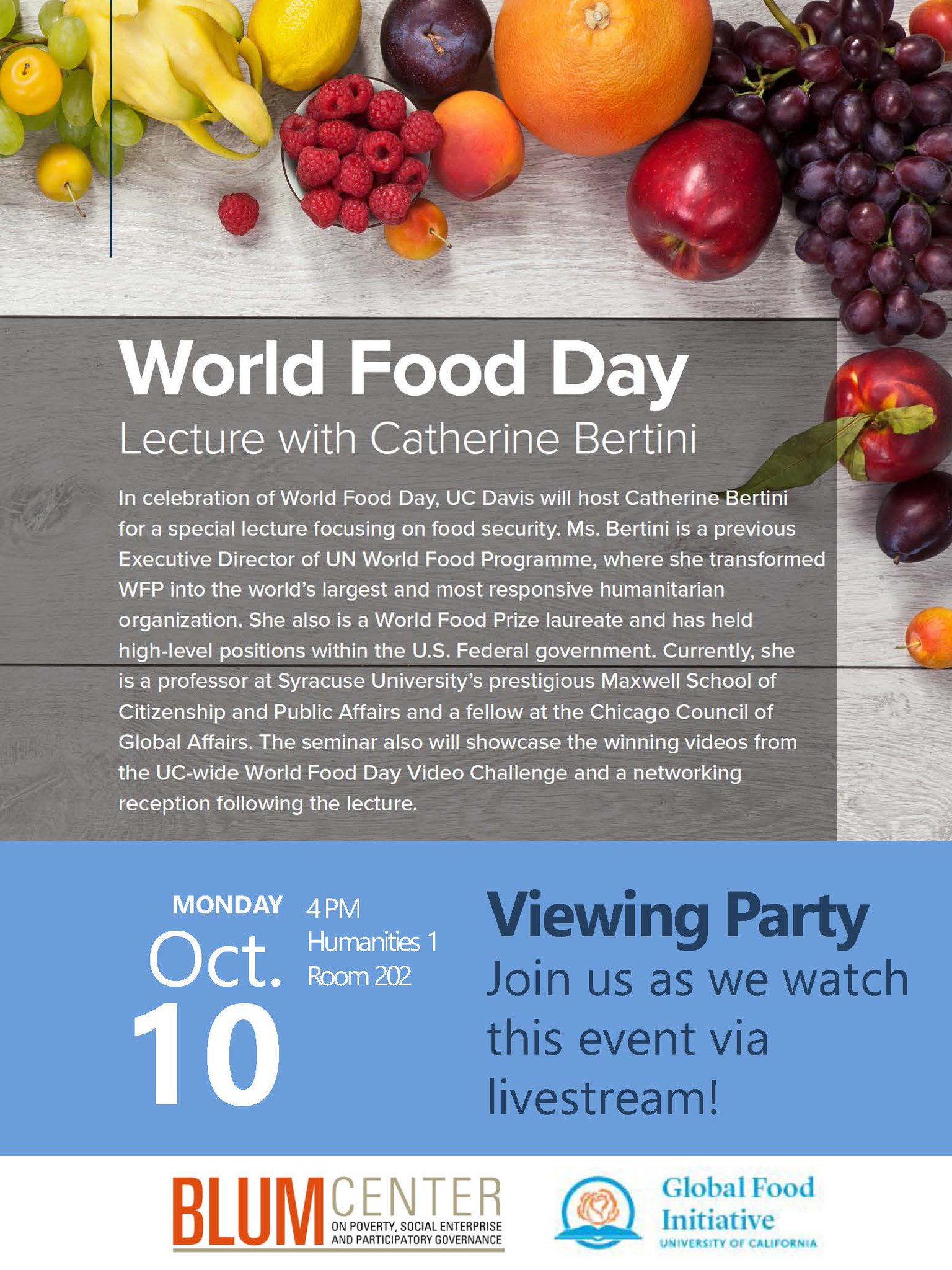 Today at 4pm, learn about food security on #WorldFoodDay and watch videos from the #globalfood challenge. https://t.co/lqRG85x4zS