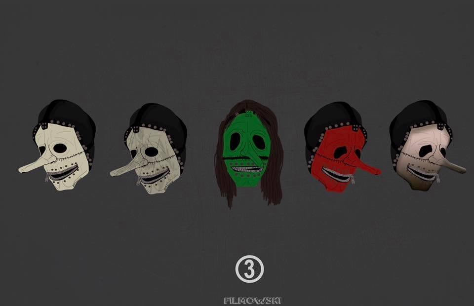 """Slipknot on Twitter: """"③ // Mask evolution art by ..."""