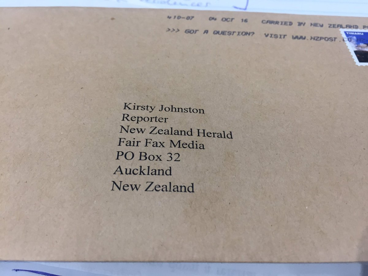 nz post on twitter phew glad it showed up then sometimes people