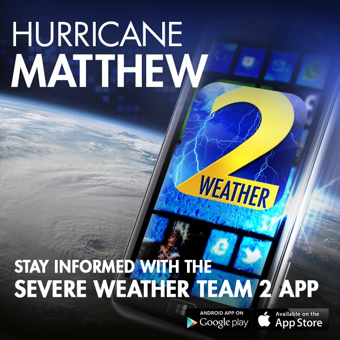 As #hurricanematthew moves in, get up-to-the minute weather