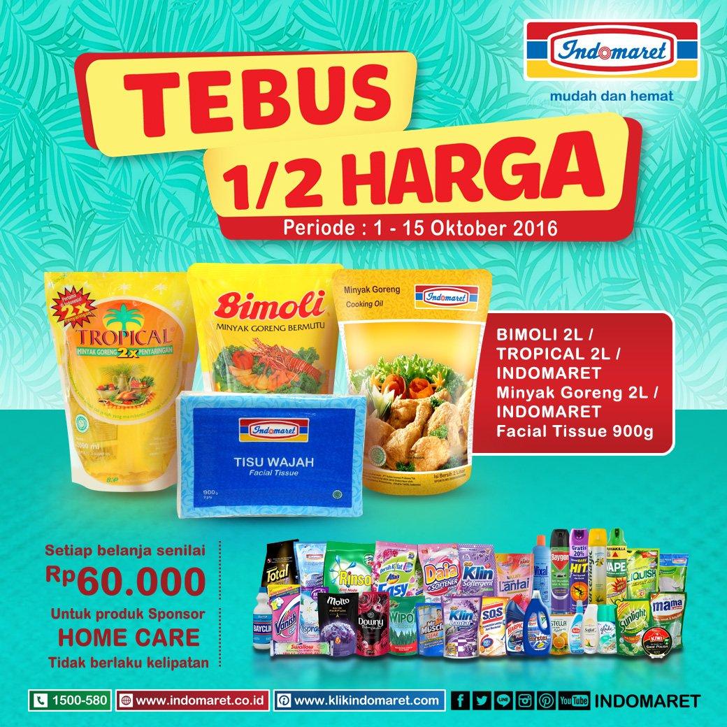 Indomaret On Twitter Tebus 1 2 Harga Minyak Goreng Tropical Refill Bimoli 2l 700 Pm 12 Oct 2016