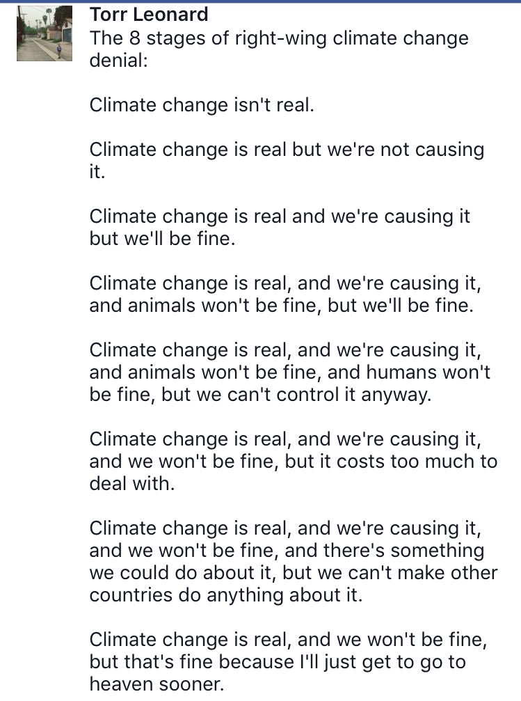 The 8 stages of right-wing #climatechange denial. #ClimateAction https://t.co/uDReZ3p5UF