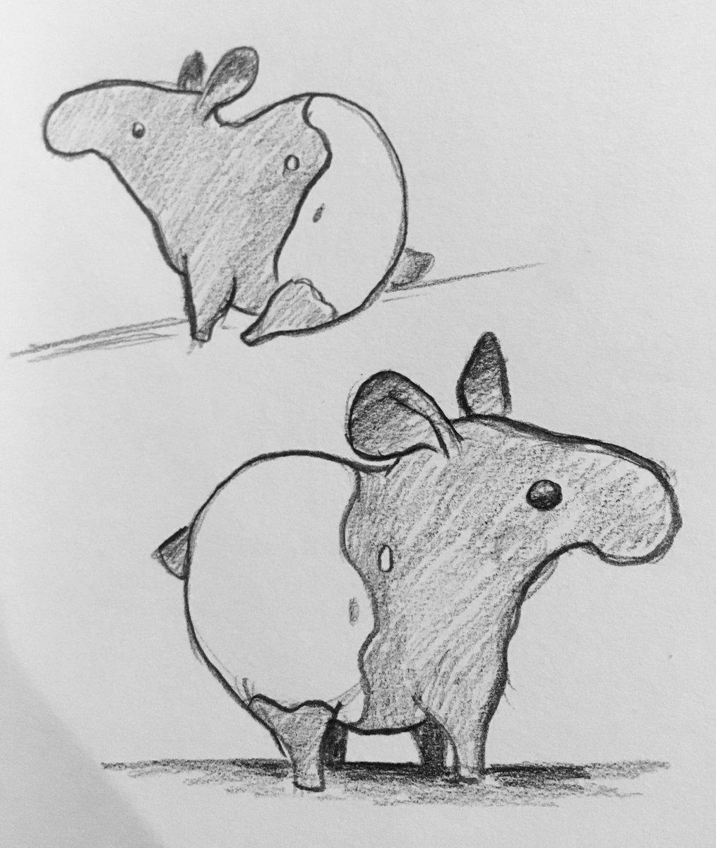 Baby Tapirs On Twitter Rt Kowaikawaii Inktober2016 Day 5 Baby Tapir Mini From Ffxiv Https T Co Bxhdtqzl5e