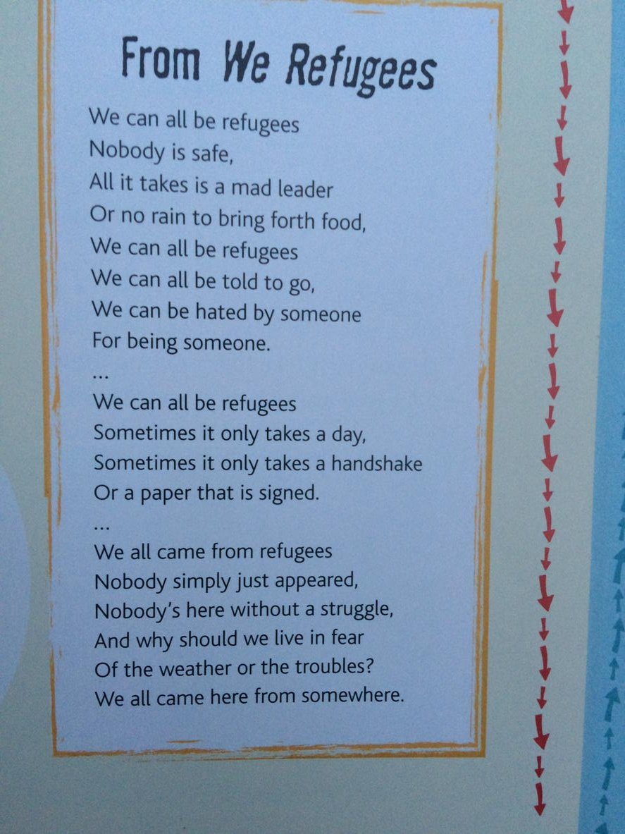 "Benjamin Zephaniah in ""Who are Refugees and Migrants?"" launched today on #NationalPoetryDay @waylandbooks https://t.co/DC6Ebto2l3"