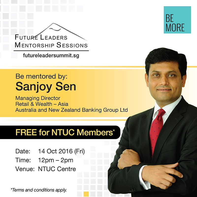 Join us at the next Mentorship session with Sanjoy Sen, ANZ Bank and learn tips about this new world of disruption: https://t.co/slAlyfKDta https://t.co/Adn37OwfNF