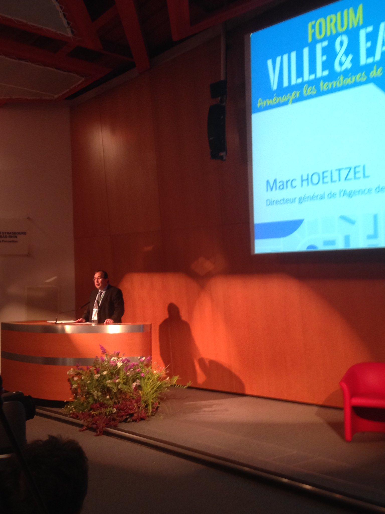 #villeeteau une thématique importante pour l'agence a déclaré Marc Hoeltzel DG de l'agence à l'ouverture du Forum https://t.co/Csuw9pKdgg