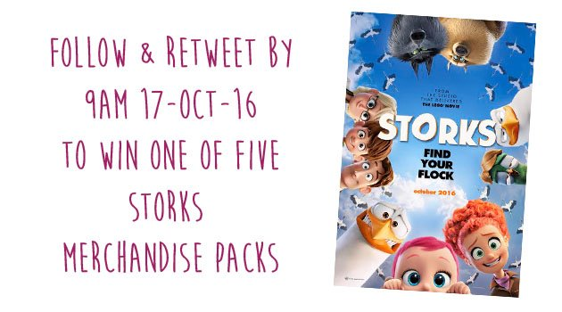 #Storks is out in UK cinemas today! Follow+RT by 9am 17 Oct to #win one of five merchandise packs. #FreebieFriday https://t.co/ieDFy8JX9p