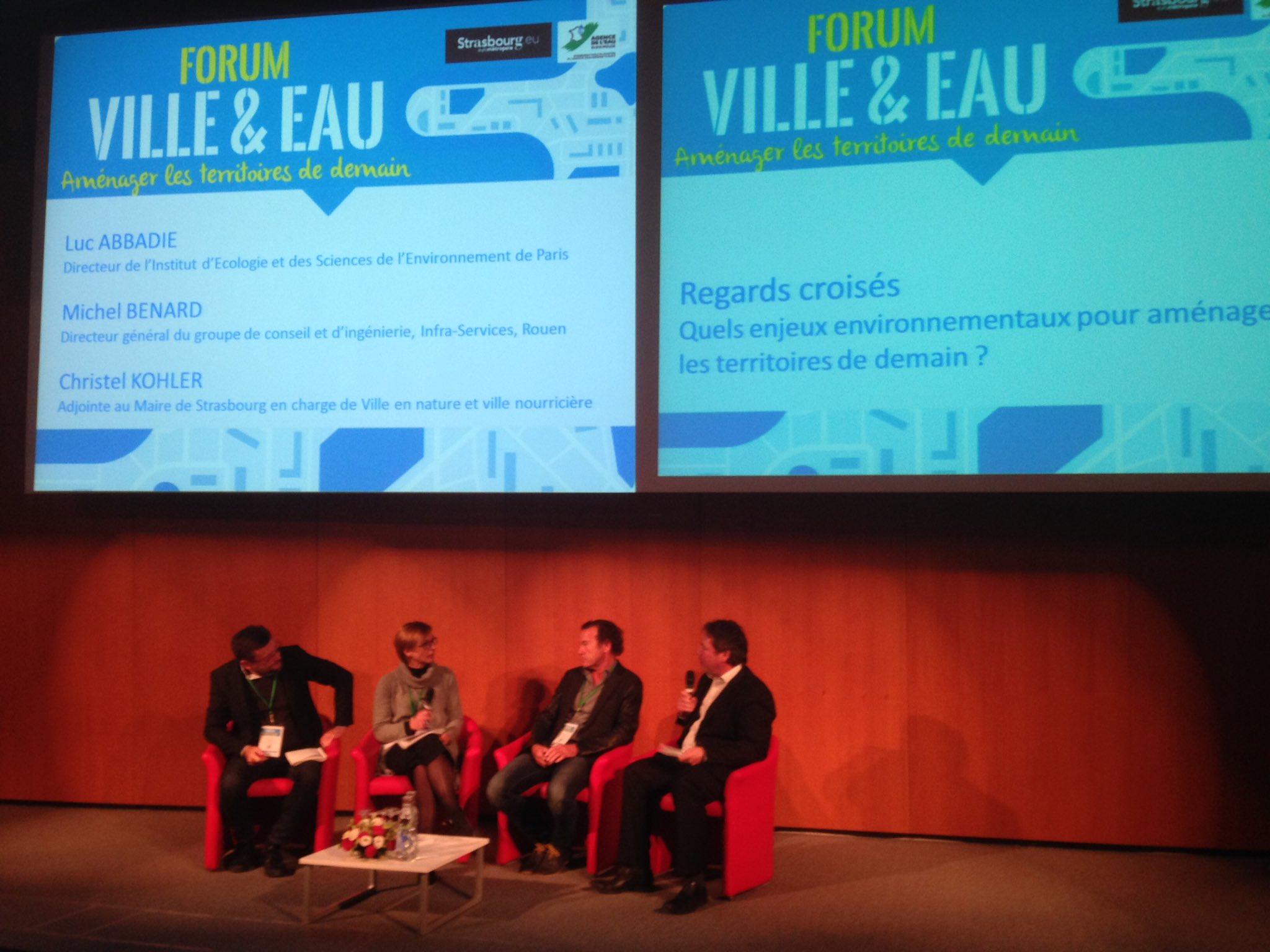 1ère table ronde : quels enjeux environnementaux pour aménager les #territoires de demain #villeeteau https://t.co/490srQh4kx