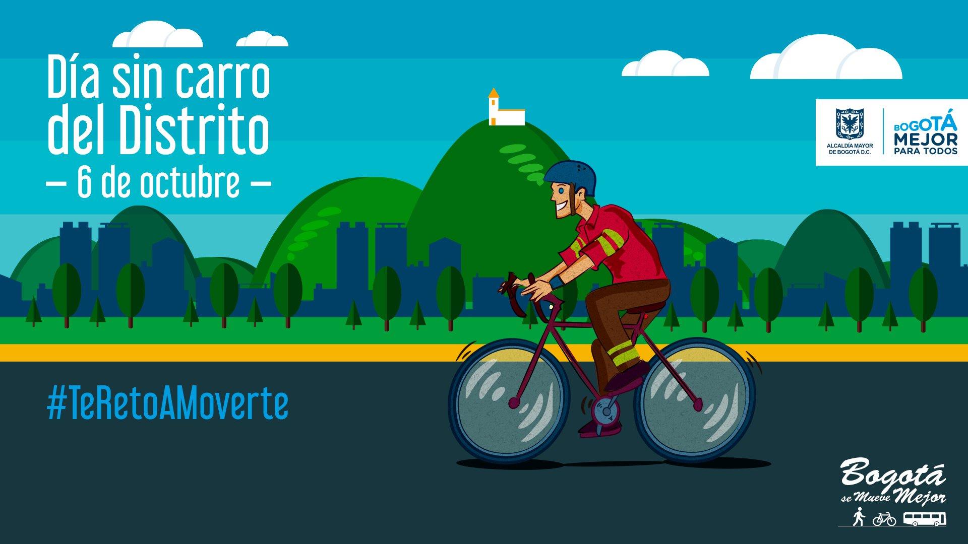 En bici hoy Día sin Carro del Distrito nos movemos #TeRetoAMoverte 🚴 https://t.co/1LooGhXxIb