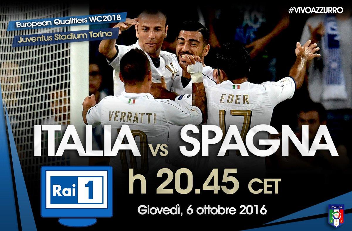 Diretta ITALIA SPAGNA in TV: ora Streaming gratis Rojadirecta e Video Live Radio Rai oggi 6 ottobre 2016 Qual Mondiali Russia 2018.