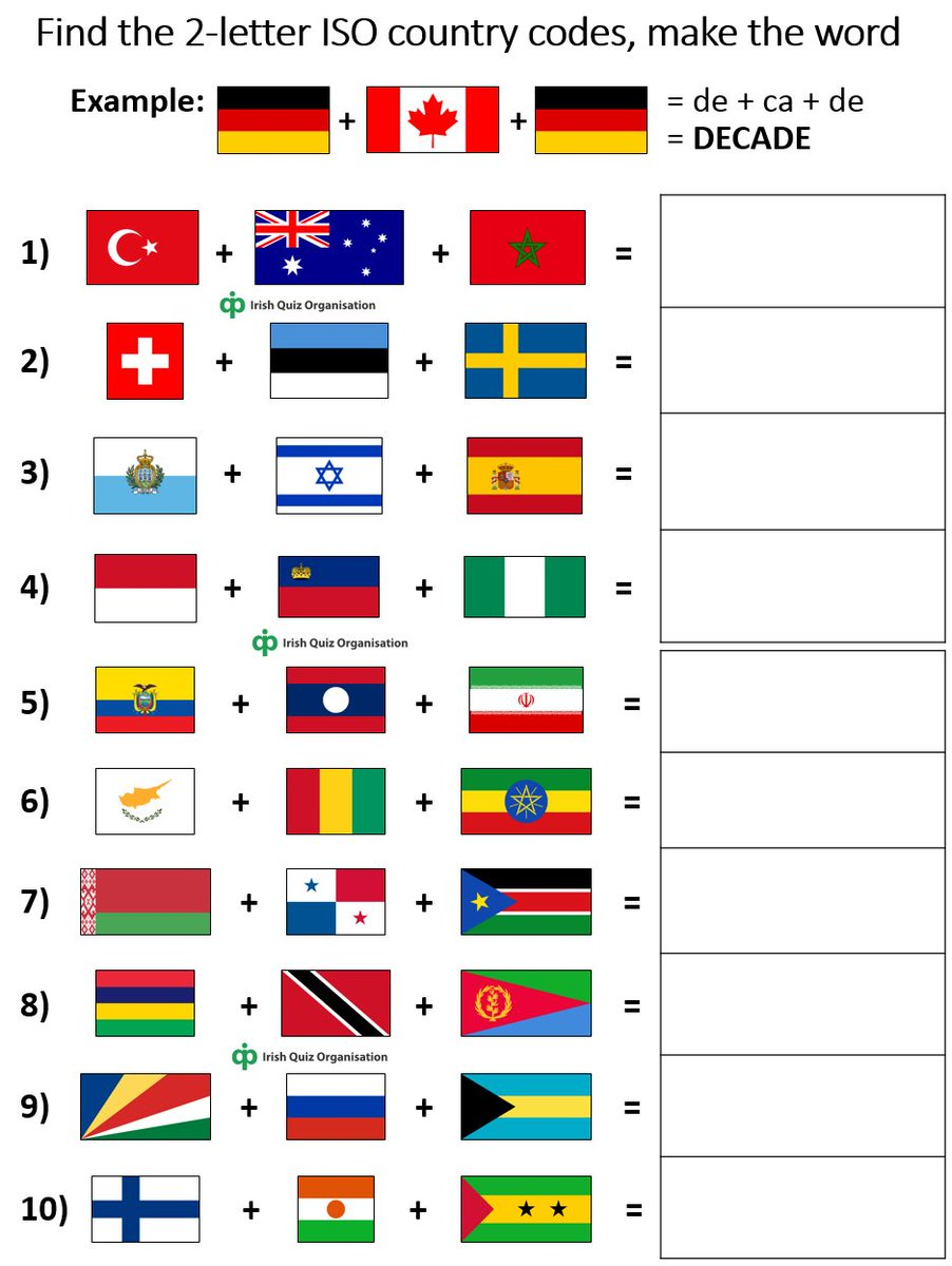 Irish quiz organisation on twitter can you match these irish quiz organisation on twitter can you match these countries flags to their corresponding iso 2 letter country codes as used in web publicscrutiny Image collections
