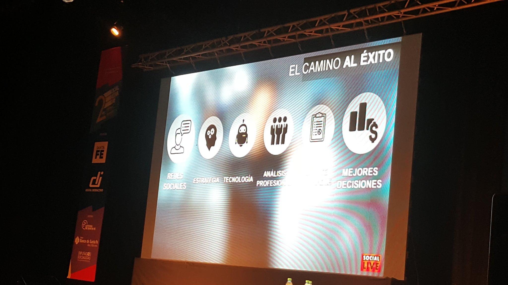 El camino al éxito en el uso de datos en Social Media @Horacio_Cairoli  #SMDayRosario https://t.co/sWlViYKcFg