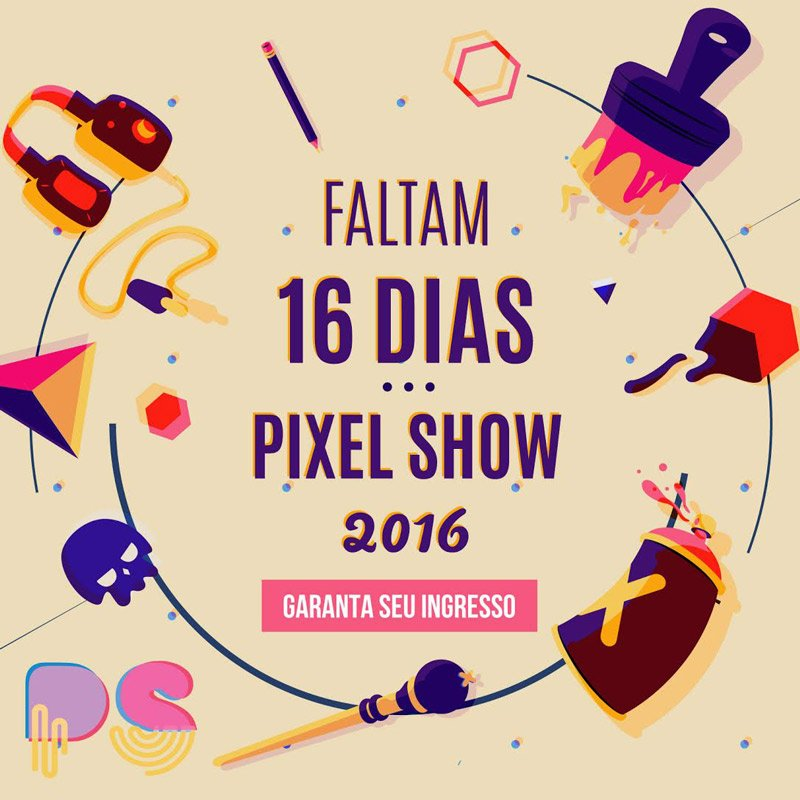 16 DIAS PARA O PIXEL SHOW!!!! https://t.co/iNc8gtyyd9 https://t.co/ouwYO9C2Y9