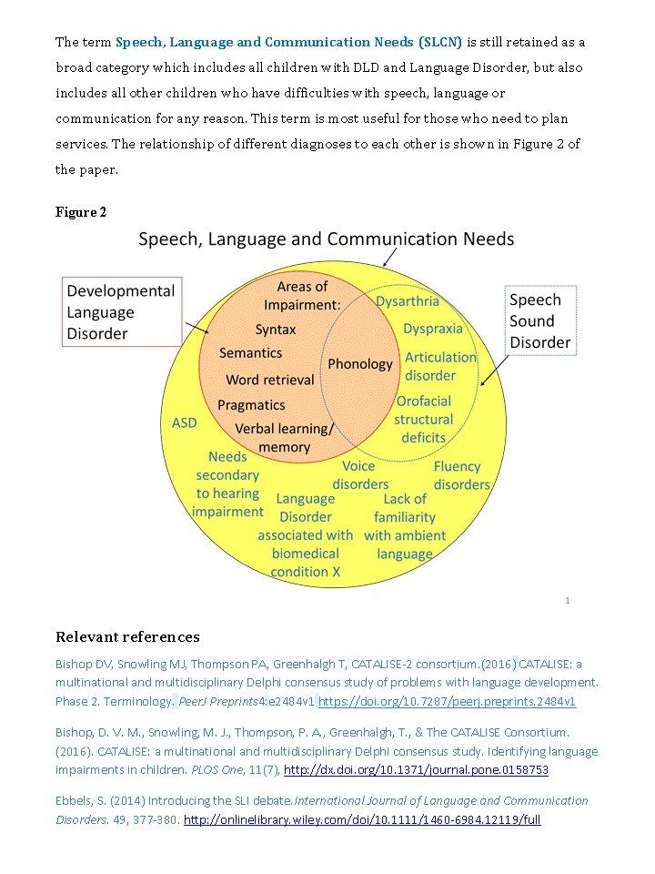 speech disorder research paper