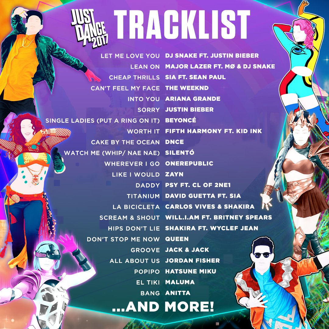 Just Dance 2021 On Twitter Yasss The Justdance2017 Tracklist Is Here Let S Dance