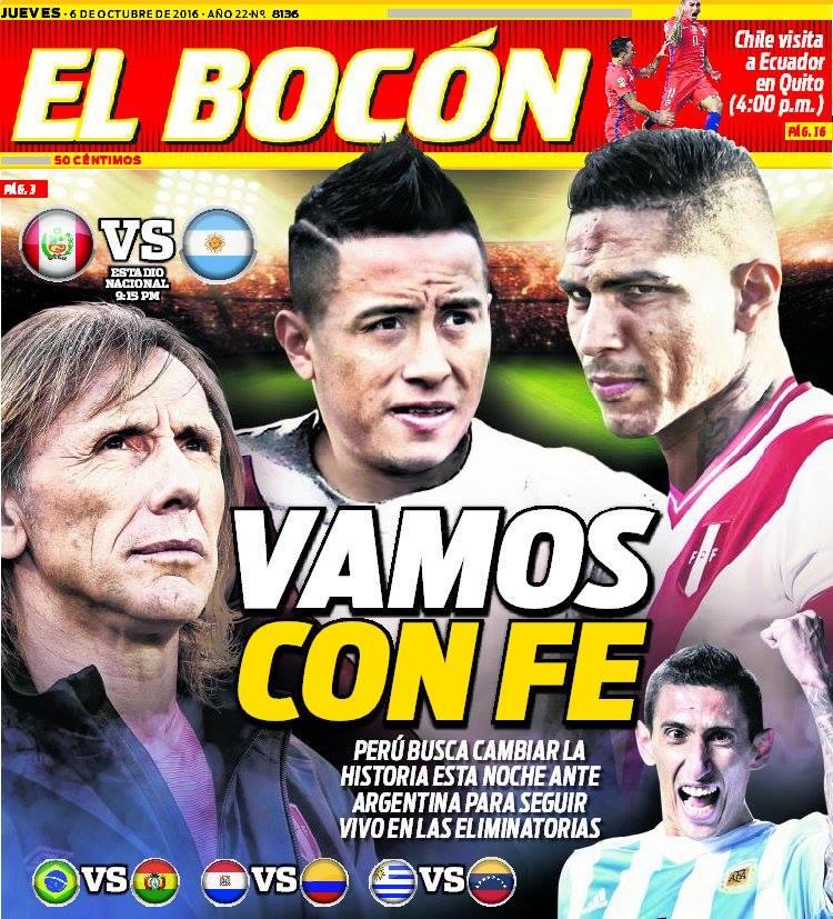 Bocón El Bocón Uno De Los Diarios Más Importantes De Perú Palpita