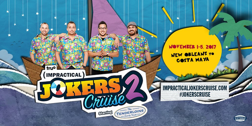 Impractical Jokers Cruise 2020.Jokers Cruise On Twitter Ready To Set Sail Again The