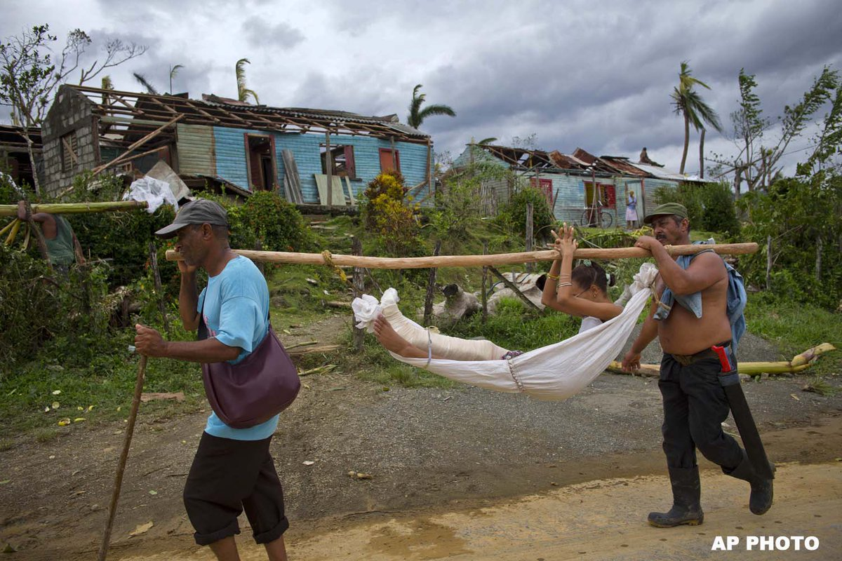 Medium image of jamaica gleaner on twitter    a young woman who was in hospital with a broken leg is carried in a hammock back to her home in baracoa