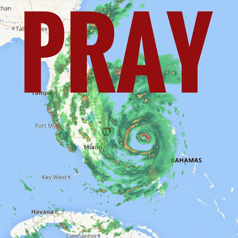 Please take a minute to join with us in praying for all those in the path of Hurricane Matthew.   #HurricaneMatthew https://t.co/se8MjAyyJP