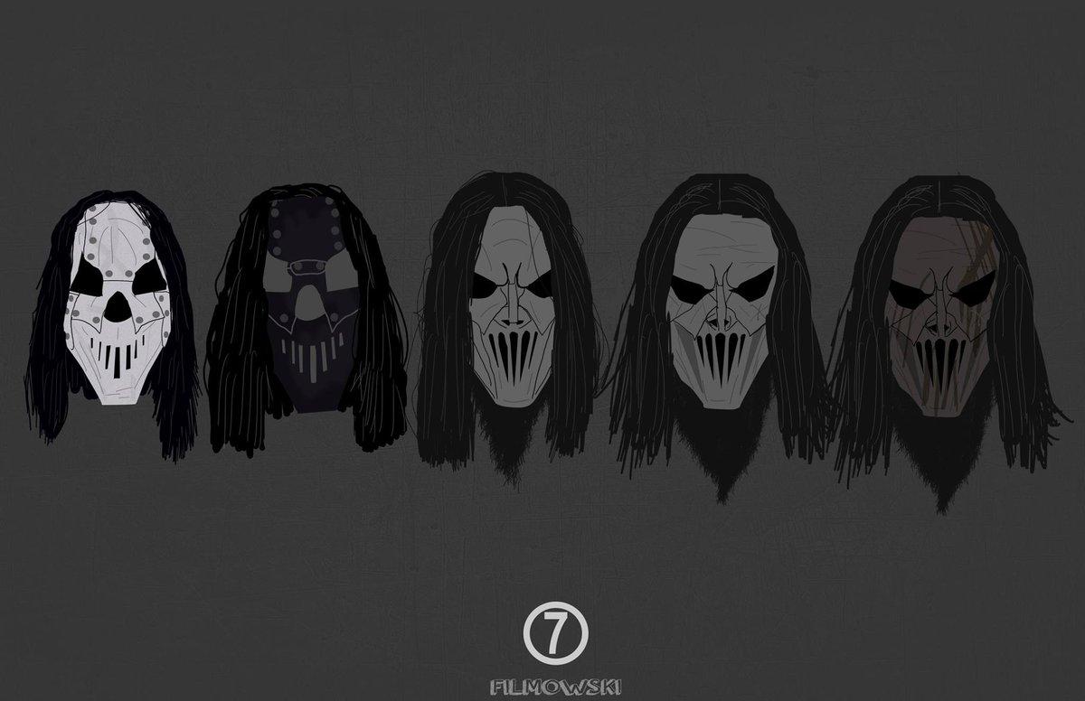 """Slipknot on Twitter: """"⑦ // Mask evolution art by ..."""