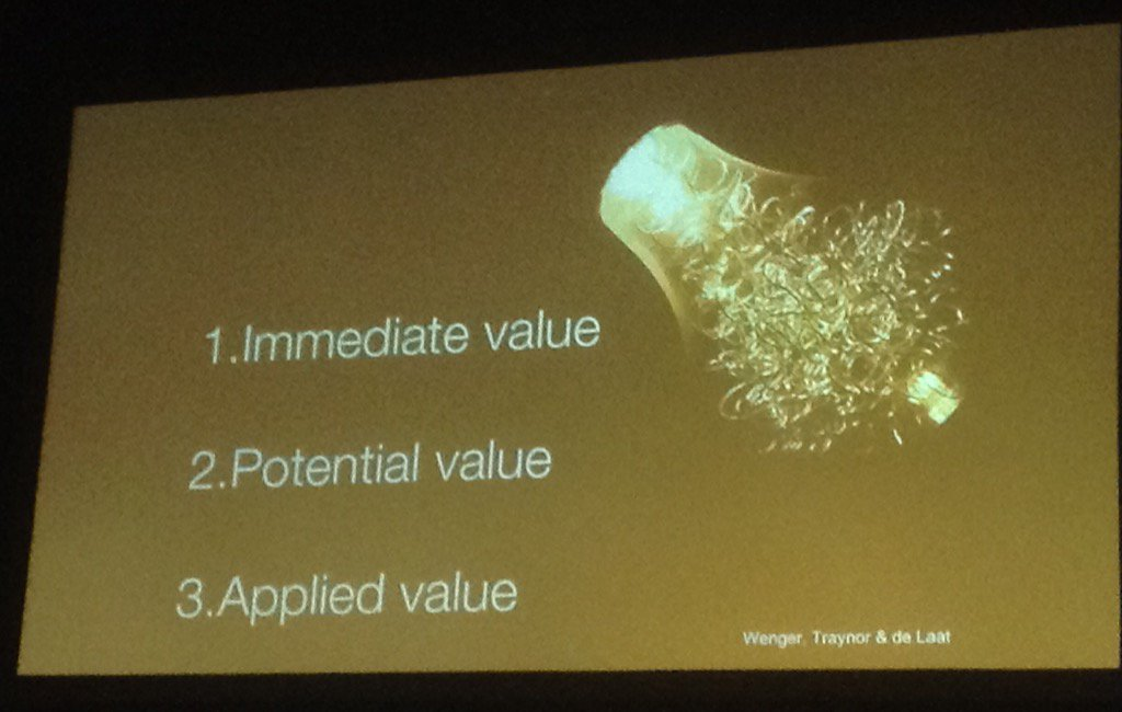 4) realised value 5) reframing value @virtuallykaren #ulearn16 https://t.co/hBnt5dRyCO