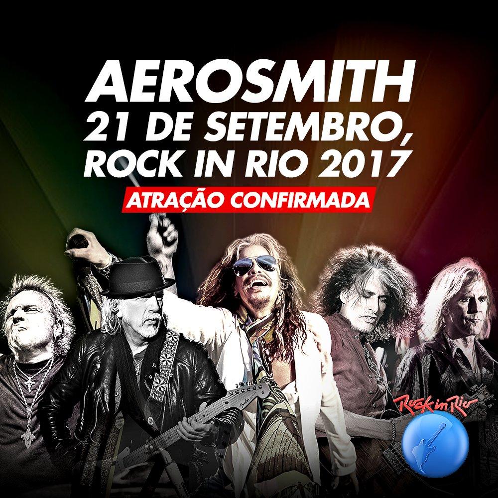 Vocês pediram rock, então toma: confirmado @Aerosmith no #RockInRio2017 \o/