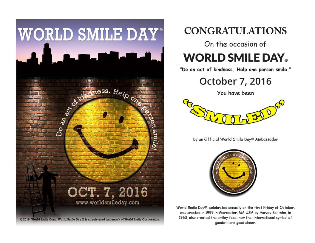 Smiley On Twitter Go Ahead Smile Someone Its Worldsmileday