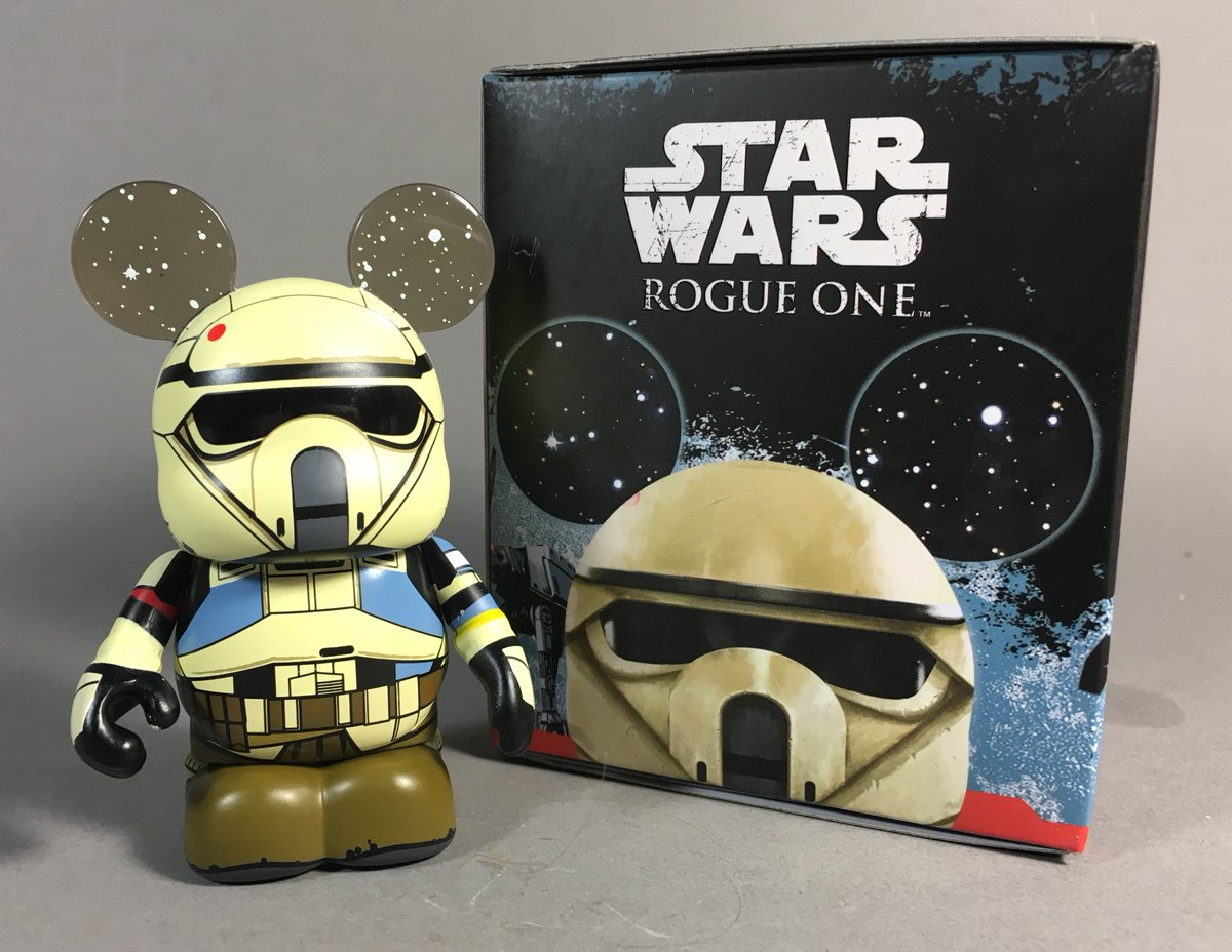 """Box NEW Disney Vinylmation 3"""" Star Wars Rogue One Series Jyn Erso Common Foil"""