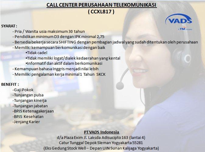Pt Vads Indonesia A Twitteren Yang Berada Di Jakarta Sekitarnya We Looking For Passionate Talents To Join In Our Call Center Perusahaan Telekomunikasi Vadscancy Https T Co 6b2jzczvfw