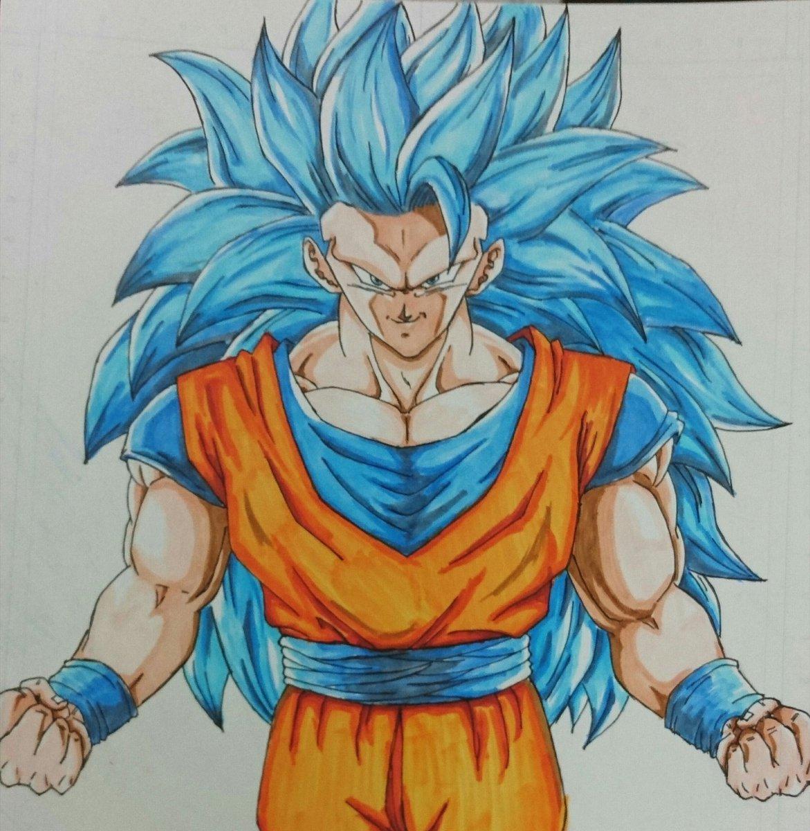 Yuzユズ On Twitter ついに完成超サイヤ人ブルー3です髪が多いと