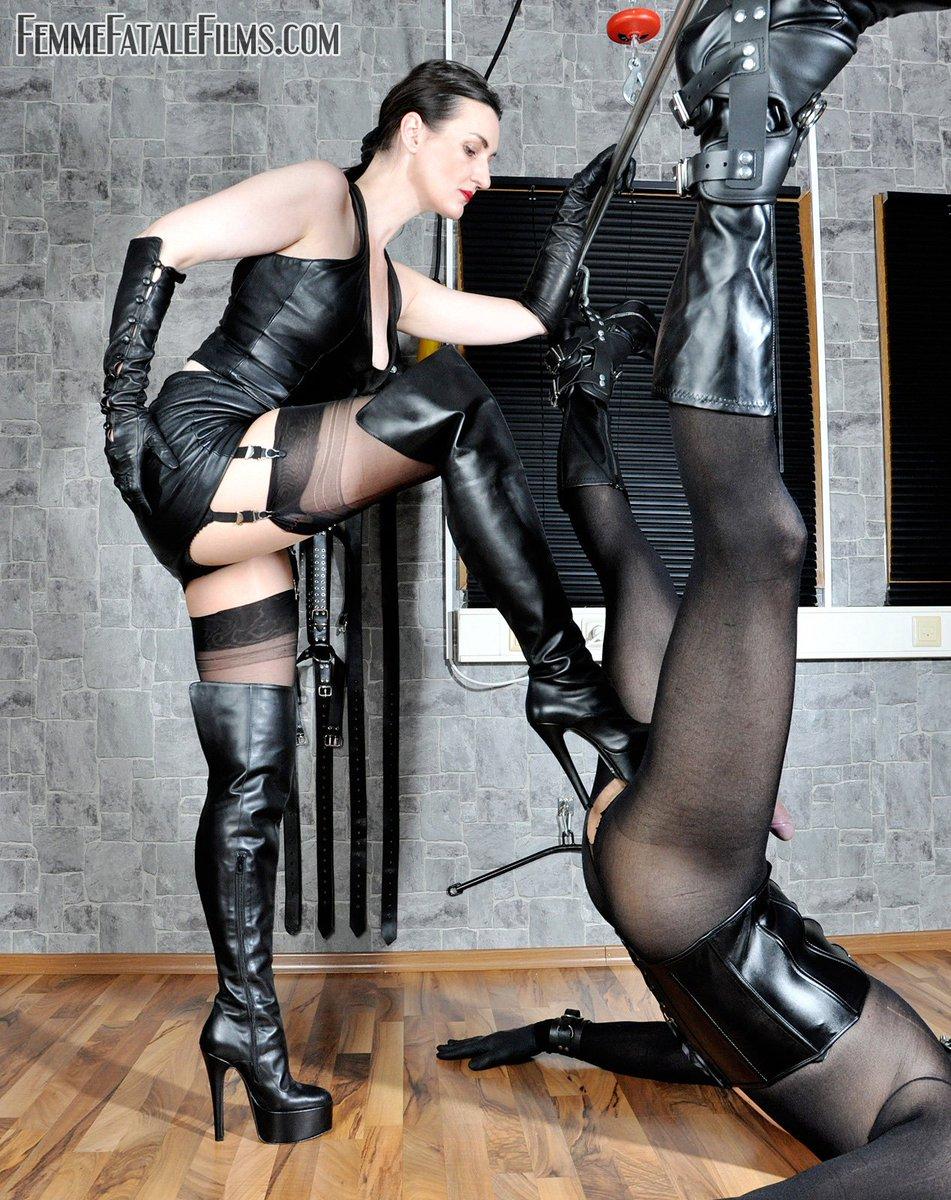 thigh boots femdom