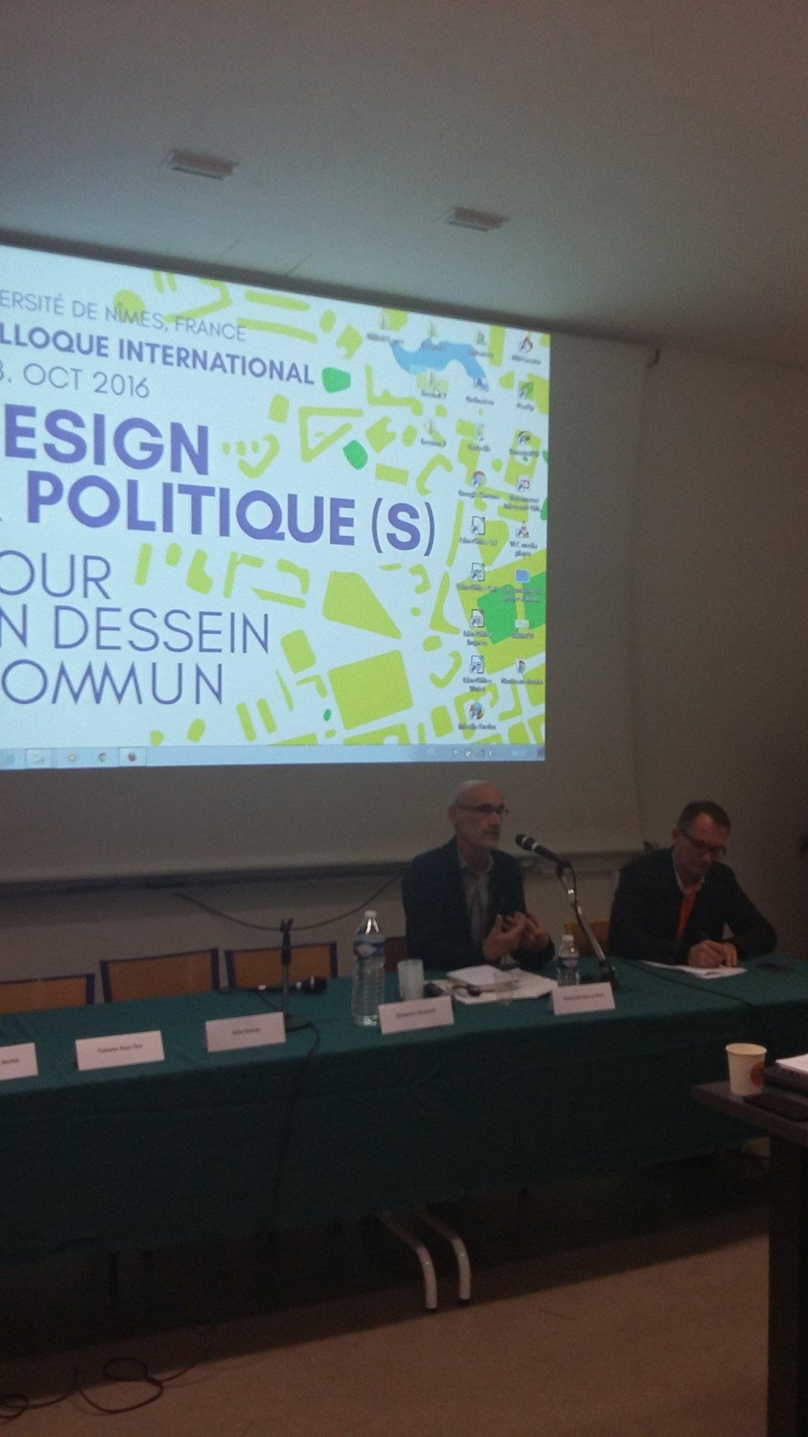 """Pascal Nicolas Le Strat intervient au colloque #despoliti #la ville se construit aussi avec des cadres conceptuels"""" https://t.co/6VjL0EURbz"""