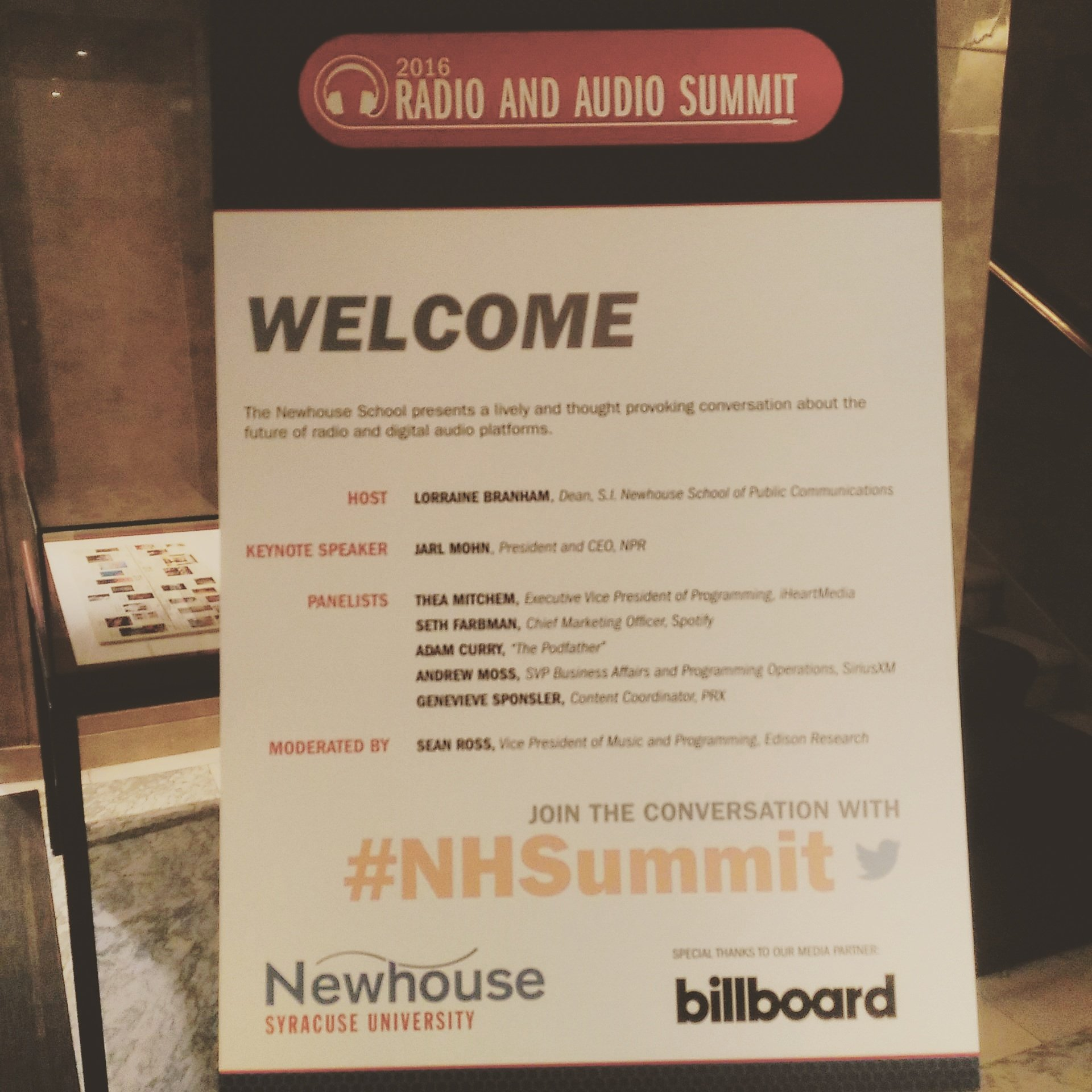Live tweeting the 2016 Radio & Audio Summit! Representing @bondfireradio #NHSummit https://t.co/nvyqOBlNj1