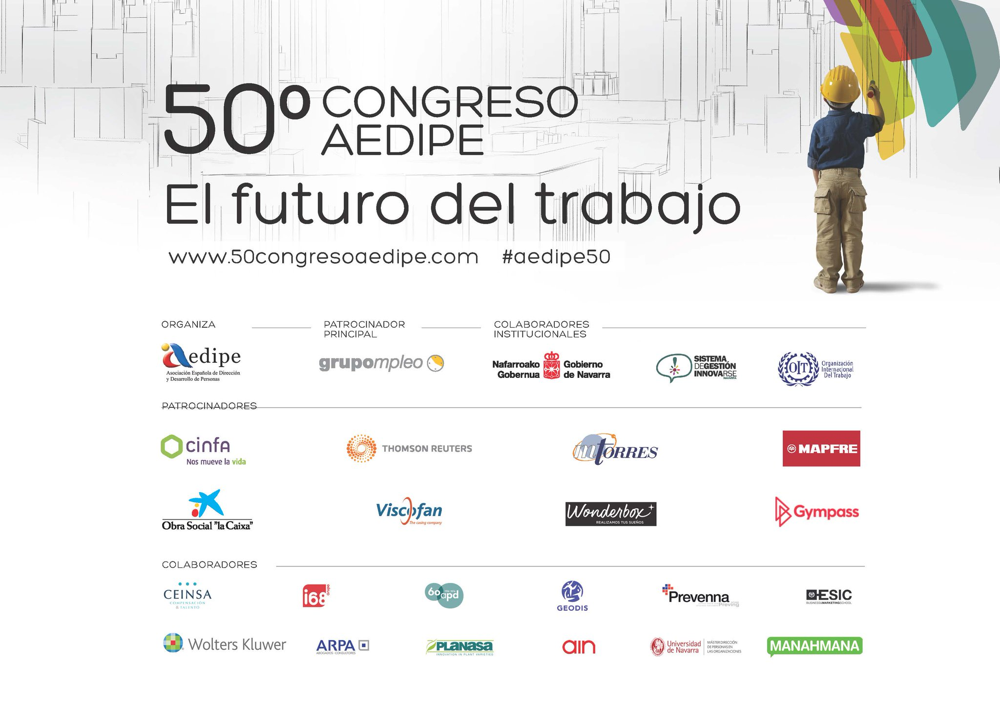 """GRACIAS de nuevo. Sois parte de """"El futuro del trabajo""""  #aedipe50 https://t.co/Hd0vRIfQj3"""