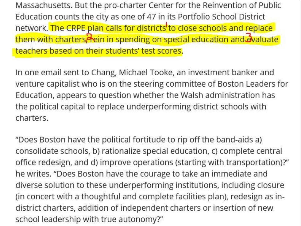 Bostons Special Education Budget Cuts >> Combative Firebrand On Twitter The Charter Billionaires Plan To