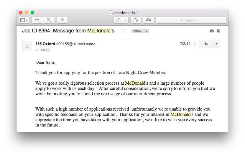 mcdonalds selection process