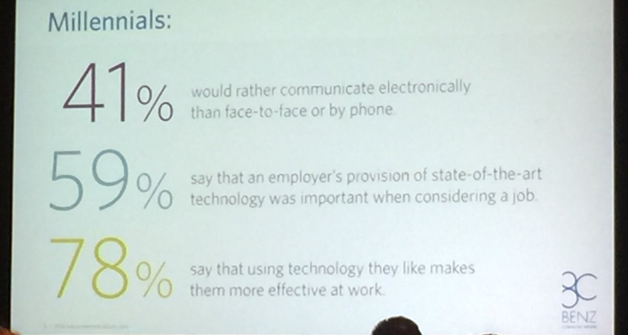 "RT HRTechConf ""RT Jamie_Russell: Some stats on communication preferences specific to #Millennials from #HRTechConf. https://t.co/xyjOma7z5r"""