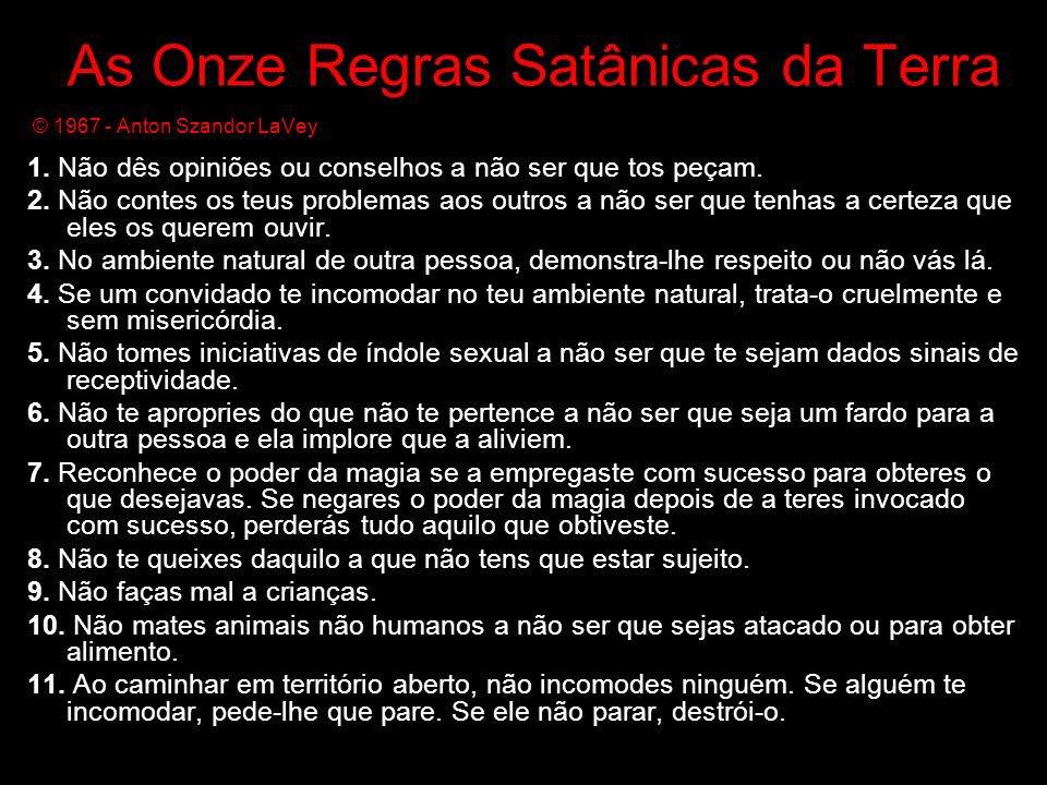 666 Satan On Twitter 11 Mandamentos Do Satanismo