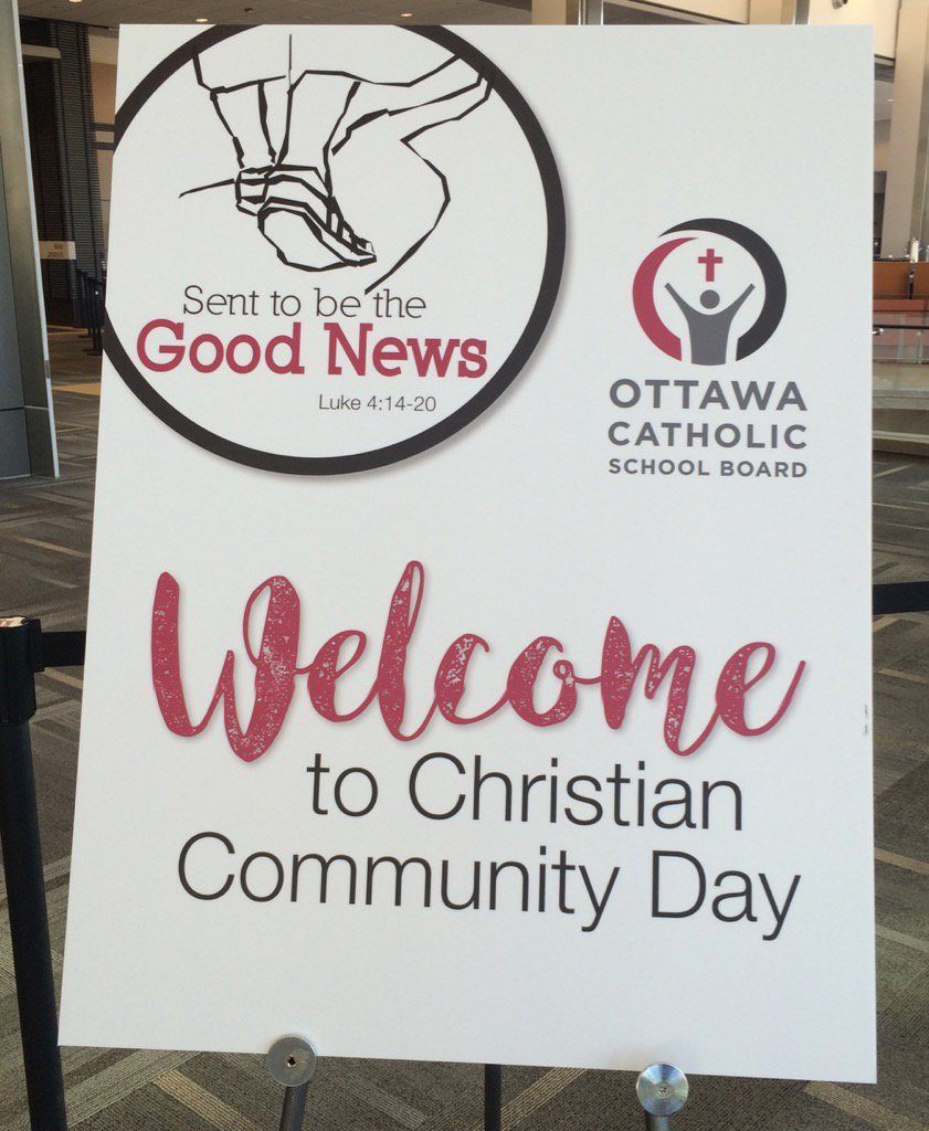 "What a beautiful day: celebrating our faith with talented colleagues ""sent to be the good news"" #OCSBCCDAY https://t.co/GLeGbtXAAw"