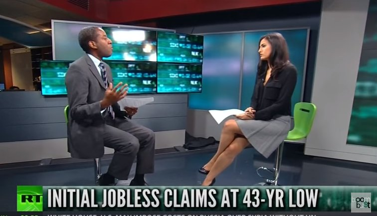 Jobless claims at multi-decade low but @edwardnh explains why that could actually indicate a recession is on the way @RT_America