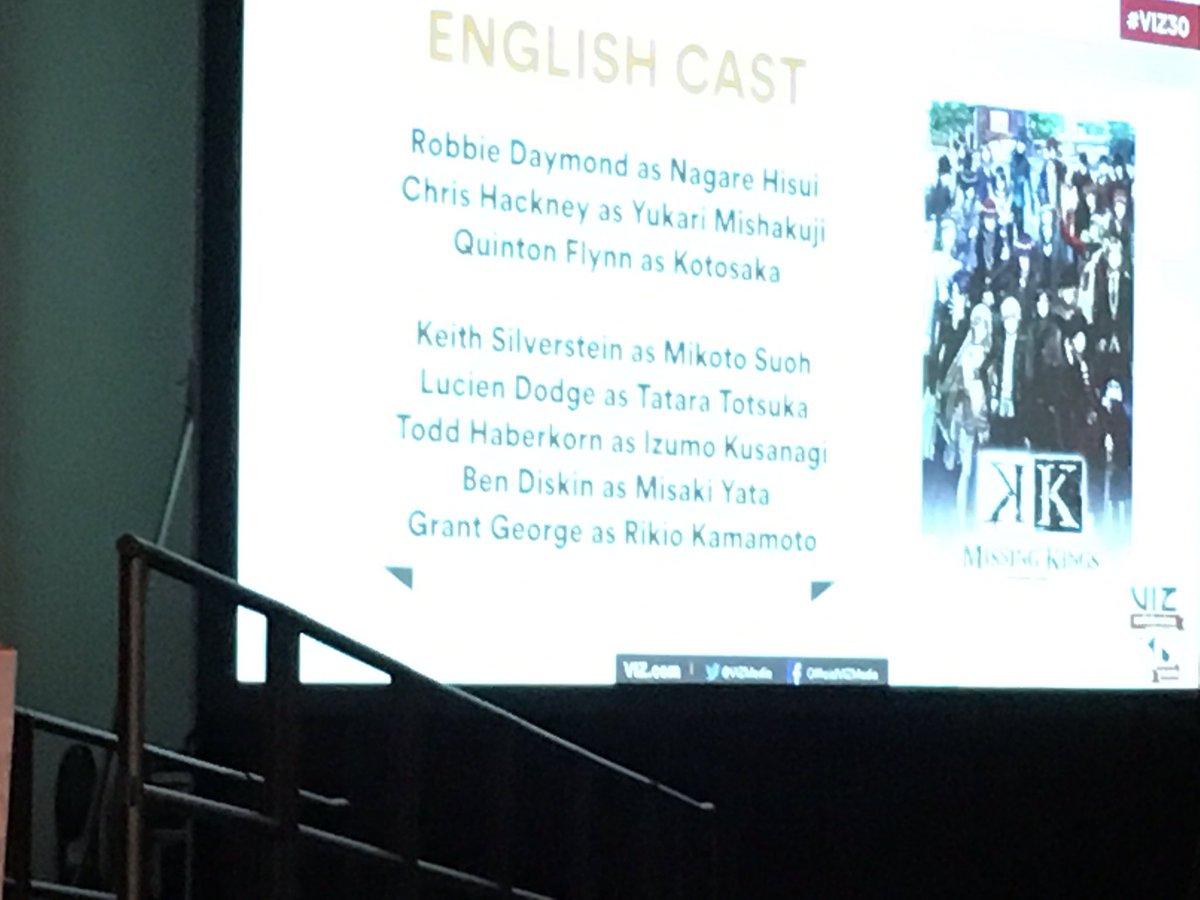 Missing Kings English cast announcement. #VIZ30 https://t.co/K7hT6mWG3v