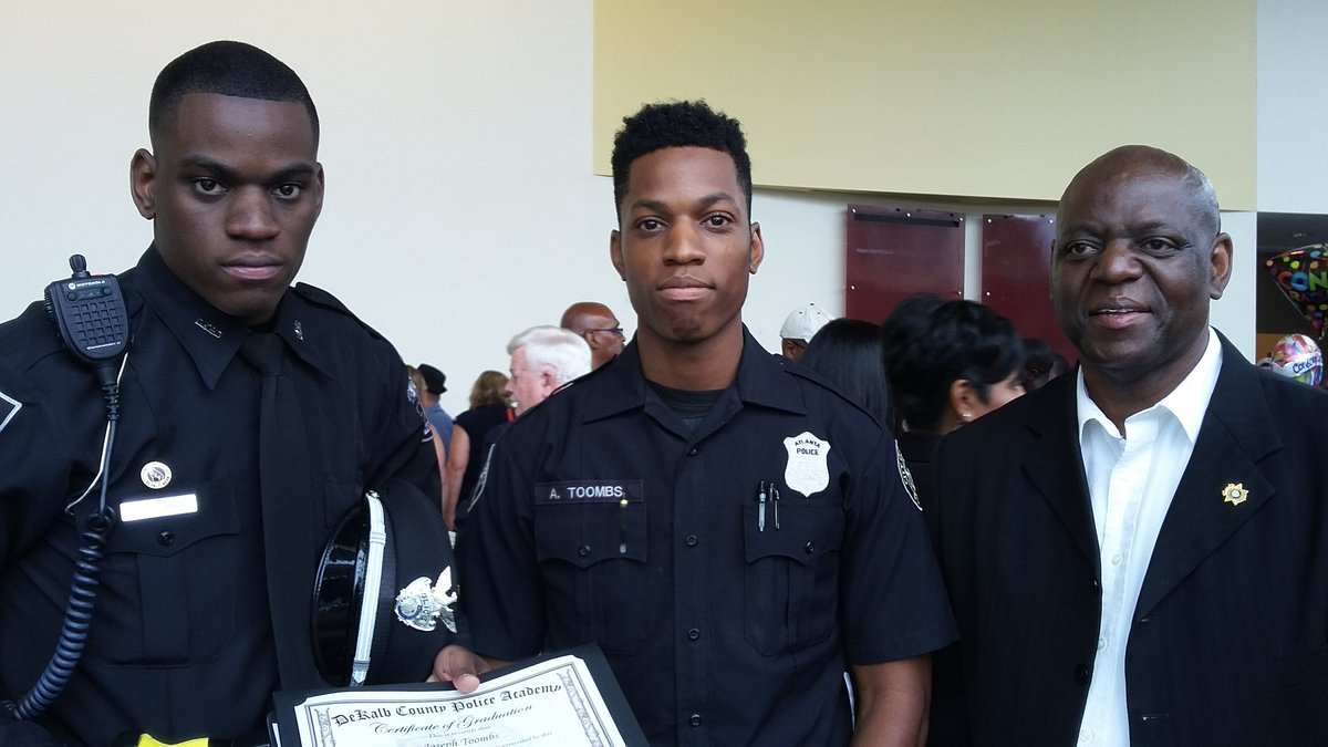 """DeKalb County Police on Twitter: """"Newly sworn Officer Toombs stands with  his brother (Atlanta PD) and father (DeKalb Sheriff's Dept).… """""""