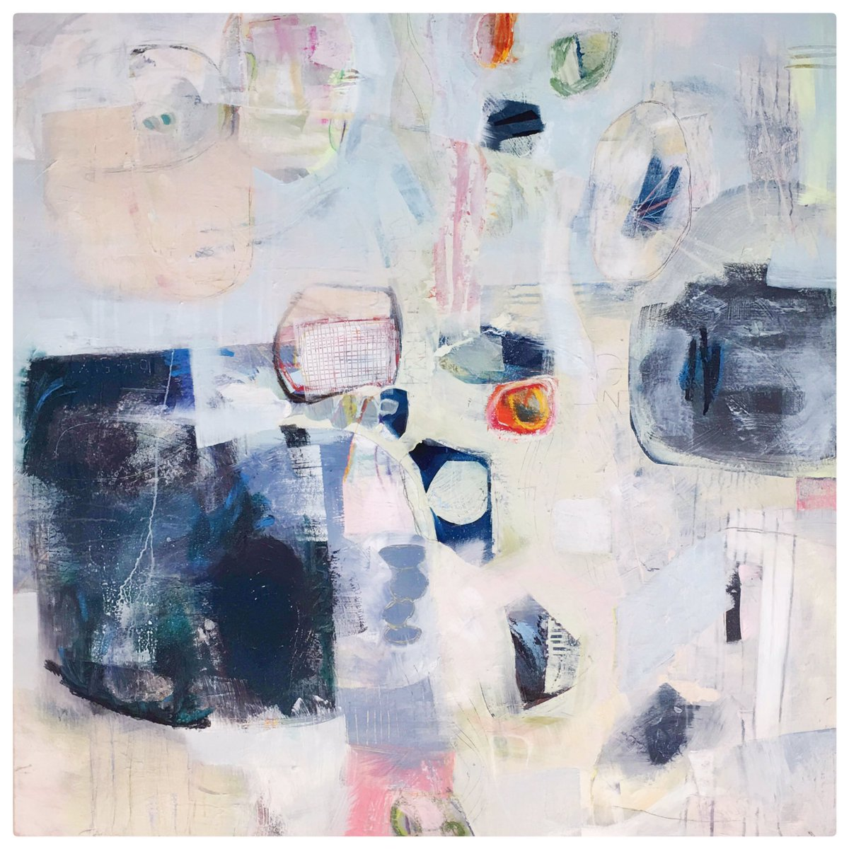 'Terra (non) Firma' 100x100cm acrylic and mixed media on canvas #abstractart #abstract #contemporaryart https://t.co/mTk55oepY1