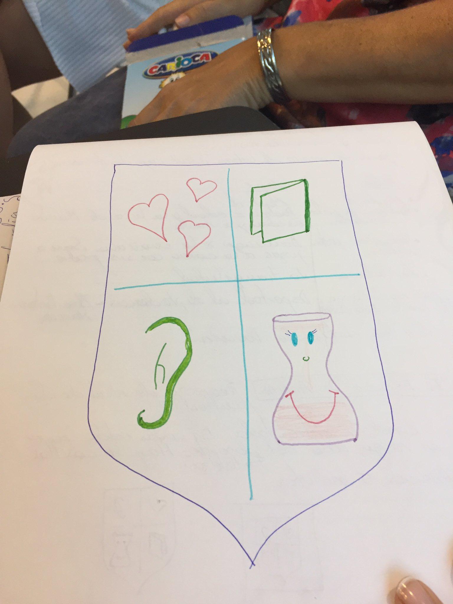 #NuevaEducacion16 creamos nuestro escudo de armas con los valores esenciales del docente. https://t.co/9IsL7byDaW
