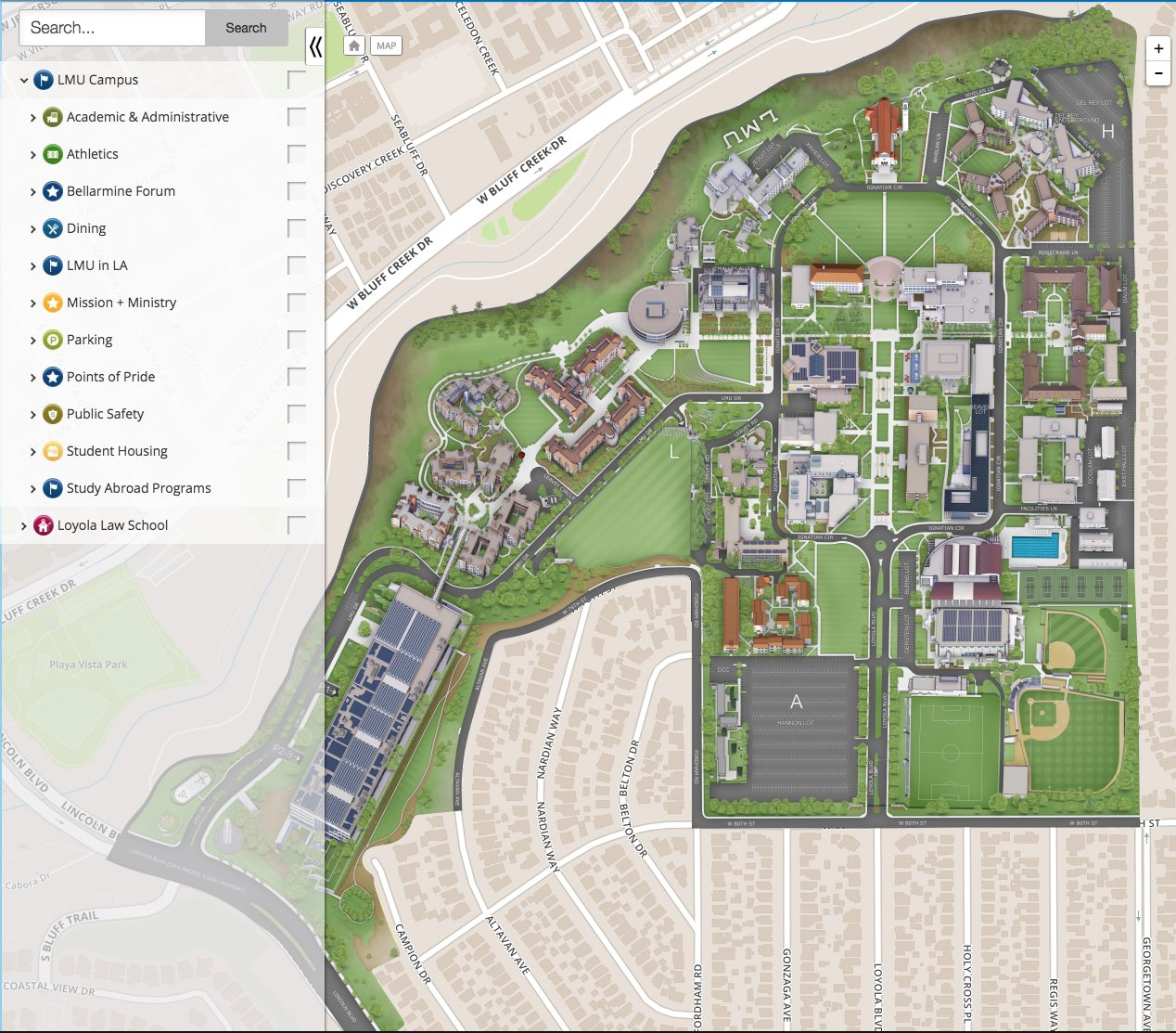 Loyola Law School Campus Map.List Of Synonyms And Antonyms Of The Word Lmu Map